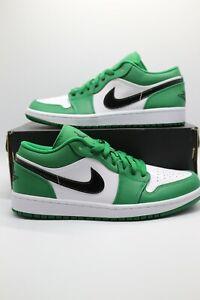 Nike Air Jordan 1 Low Pine Green Black White Men's Sizes 553558-301 NEW