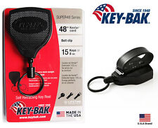 "Key-Bak SUPER48 Retractable Key Holder Belt Loop Convert Heavy Duty 48"" Kevlar"