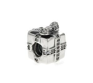 Genuine Pandora Silver Gift Charm Cubic Zirconia 791400CZ