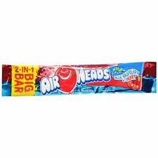 Airheads 2-in-1 Big Bar Candy Blue Raspberry - Cherry 24ct