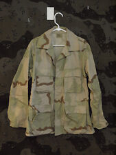 US Army DCU 3 Color Desert Camo BDU Jacket, Size Medium Regular