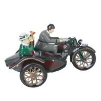 Vintage Wind Up Parade Motorcycle Sidecar Clockwork Tin Collectable Decoration