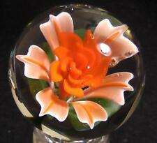 "RPC Marbles! 1.57"" Handmade Glass Marble  - Art Glass Marble ""Orange Cream"""