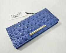 Brahmin ADY Embossed Leather Light Weight Wallet Iris Melbourne