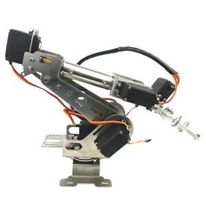 6 Achsen Roboterarm Greifer Edelstahl Mechanische Roboter Arm Bausatz mit Servos