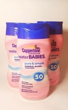 Coppertone Water Babies SPF 50 Sunscreen Lotion Brand New PACK of 3! 6oz ea CL02