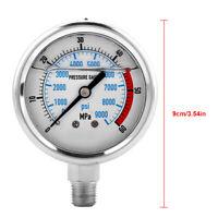 Hydraulik Manometer Wasserdruckmanometer 60MPA/9000PSI Basis Eintritt NPT1/4