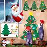 3.5FT Large DIY Felt Christmas Tree Ornaments Xmas Kids Gifts Wall Hanging Decor