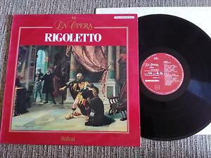 "Verdi Rigoletto La Opera LP Vinyl vinilo 12 "" 1988 VG+ Fonit Cetra Salvat"