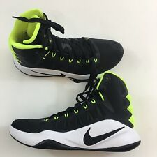 New Nike 2016 Hyperdunk Mens Size 8 Black Volt Green Athletic Basketball Shoes