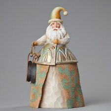 "JIM SHORE RIVERS END FIGURINE ""SANTA WITH SKATES"" 4048060 NEW  * FREE SHIPPING"