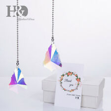 Rainbow Maker Crystal Maple Leaf Drop Prism Suncatcher Wedding Hanging Pendants