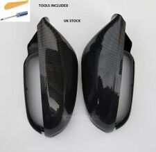 Audi A6 C7 2012+ S6 RS6 CARBON FIBER Wing MIRROR COVERS OEM-Fit NO Lane Assist