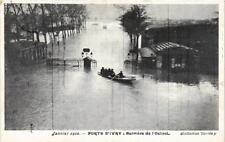 CPA PARIS Porte d'Ivry Barriere de l'Octroi INONDATIONS 1910 (605388)