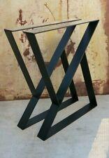 2x steel table Legs zshape, table,  70cm tall x 50cm wide