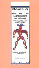 Chicago Bears at Dallas Cowboys 1997 NFL ticket stub TOPPS HOF Emmitt Smith