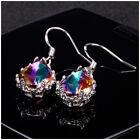 Mystic Topaz Drop Earrings For Women 925 Silver Jewelry Earring Gifts A Pair/set