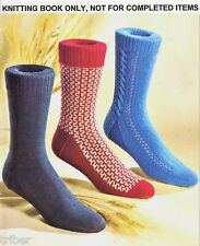 Knitting PATTERNS 17 pairs Mens SOCKS Cable Ribbed Arrowhead Diamonds