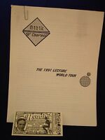 JEFF BIBIK OF COURSE! THE 1991 LECTURE WORLD TOUR NOTES VINTAGE