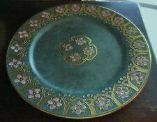 Vintage Toyo Marbella Design Gold Enamel Cloisonne Decorative Porcelain Plate