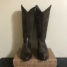 Vintage Bandolino Brown Leather Cowboy Boots, Size 7.5
