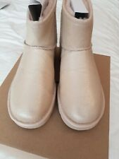 UGG CLASSIC MINI II IRIDESCENT BOOT, UK 7, EU 40, GOLD, New £155
