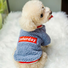 Boy Dog Shirt Small Dog Clothes Hoodie Sweater Size Medium for poodle Schnauzer