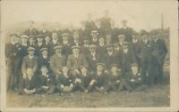 Photo of large group of men & boys on trip to St mullions 1910