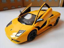 LAMBORGHINI MURCIELAGO DIE CAST Toy Car MODEL boy dad birthday YELLOW NEW!!!!!!!