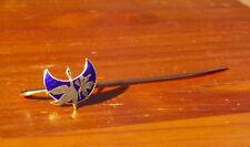 Swan Goose Bird Blue Moon Flower Gold Tone Metal & Enamel Bookmark