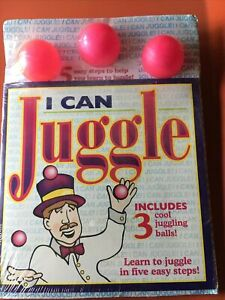 2 I Can Juggle Kit w Instruction Book Three Balls Five Easy Steps New