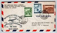 Austria 1946 PanAm FFC Vienna to London - Z13031