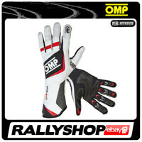 FIA OMP One Evo RACE Karthandschuh Handschuhe Professionell NOMEX Rot