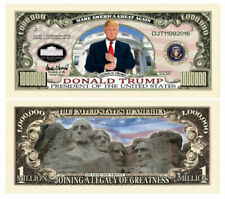 25 Pack - Donald Trump Presidential 1 Million Legacy Novelty Dollar Bills