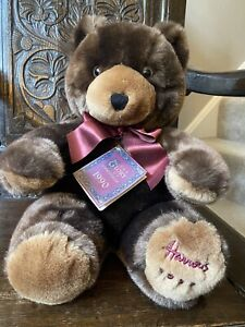 Harrods Christmas Teddy Bear 1990. Mint Condition With Tags