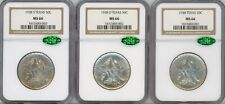 1938 (P, D, & S) Silver Commemorative Texas 50C Set, MS 66 - NGC