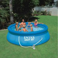 Intex - 8 Pies X 30 pulgadas fácil Set hinchable piscina por encima de la Tierra-Sin Bomba