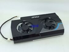 MSI HD6570 Blizzard Edition graphics card radiator dual fan