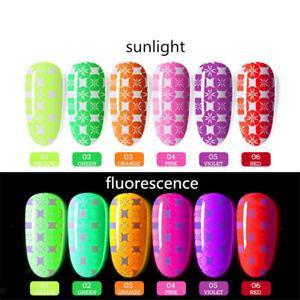 8ml DIY Fluorescent Stamping Nail Polish Soak Off Nail Art UV Gel Varnish