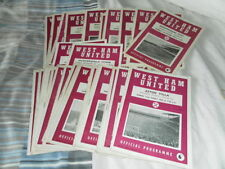 League Cup Teams S-Z West Ham United Football Programmes