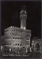 AA4229 Firenze - Città - Palazzo Vecchio - Notturno - Cartolina postale