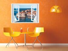 Wandtattoo Fenster 3D Optik Wandsticker Aufkleber Deko Bild - Kroatien Dubrovnik