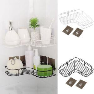 Punch Free Organizer Cosmetic Rack Iron Corner Bathroom Shelf Kitchen 1