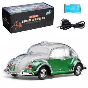 Volkswagen Beetle Green Speaker  BT Indoor/Outdoor Portable USB PORT/AUX INPUT