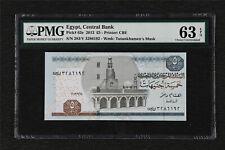 2013 Egypt Central Bank 5 Pounds Pick#63e PMG 63 EPQ Choice UNC