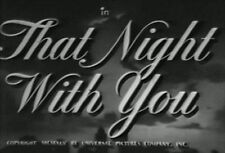 THAT NIGHT WITH YOU (1945) DVD FRANCHOT TONE, SUSANNA FOSTER