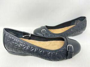 Croft & Barrow Women's Drawbridge Slip On Cushioned Flats Black WIDE #663 145J z