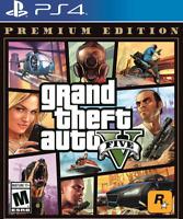 Grand Theft Auto V Premium Edition (PlayStation 4, 2013) FREE SHIPPING
