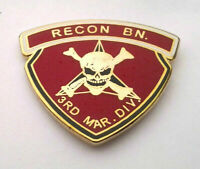 US MARINES 3RD RECON BN Military Hat Pin P14727 EE