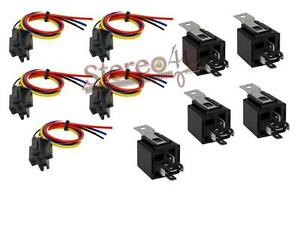 5 Pack The Install Bay  30/40 AMP Relay Harness Spdt 12V Bosch Style